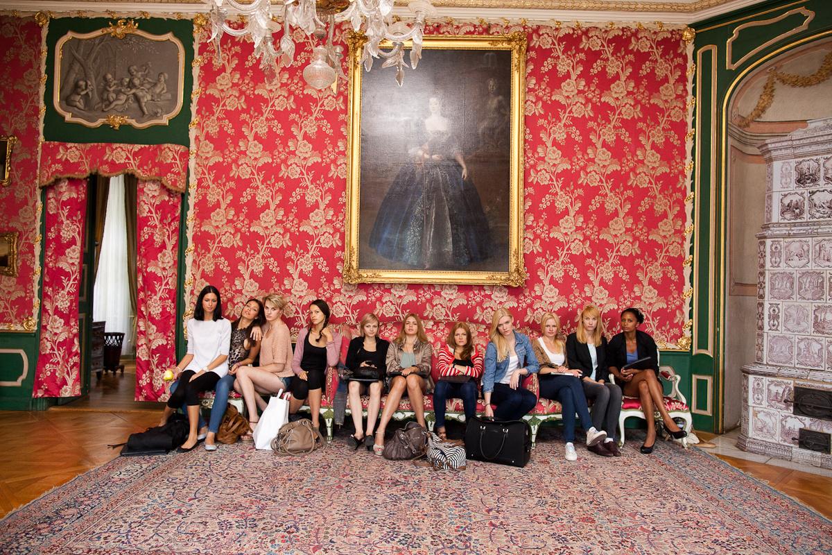 W pałacu w Nieborowie